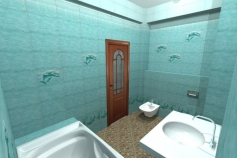 3D-Дизайн квартиры, ул. Российская 8, фото №7