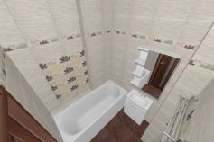 3D-Дизайн квартиры, ул. Экваторная 1, 3-ком, фото №2