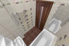 3D-Дизайн квартиры, ул. Экваторная 1, 3-ком, фото №5