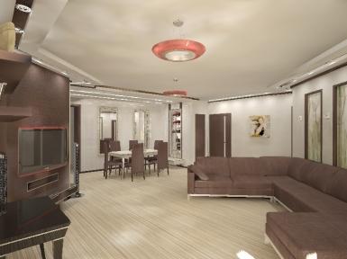 Дизайн интерьера, пр-т Коптюга, 6-комнатная